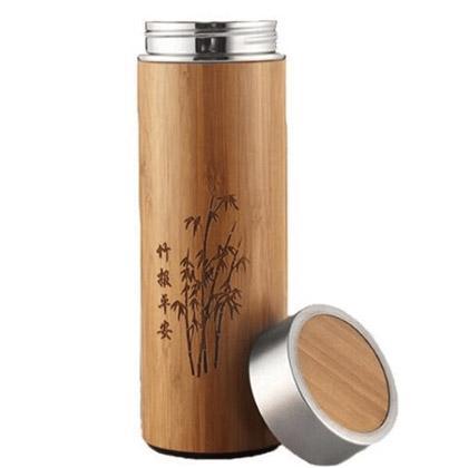Thermos en bambou 2 Thermos bambou infuseur avec