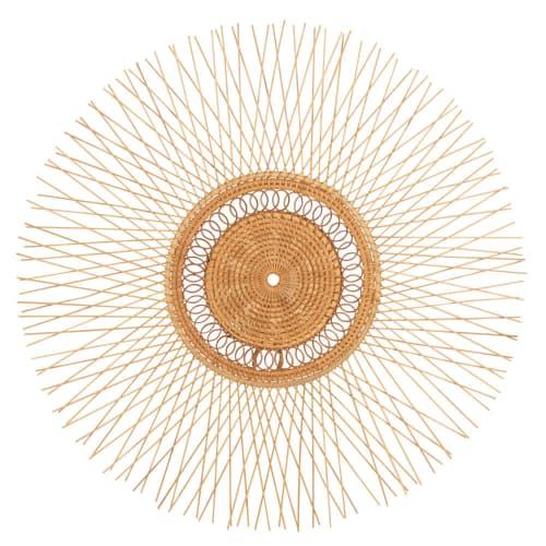 Déco murale en bambou et rotin 8 deco murale ronde en bambou et rotin d56 1000 14 32 205442 1