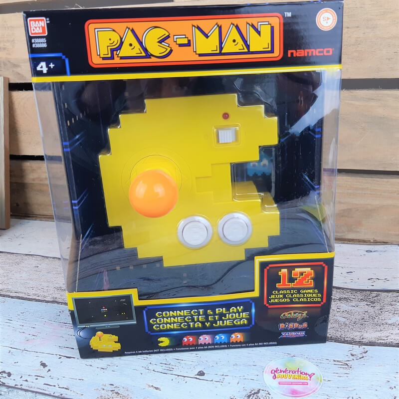 Manette Pac-Man 9 manette retrogaming pac man avec jeux integres 1