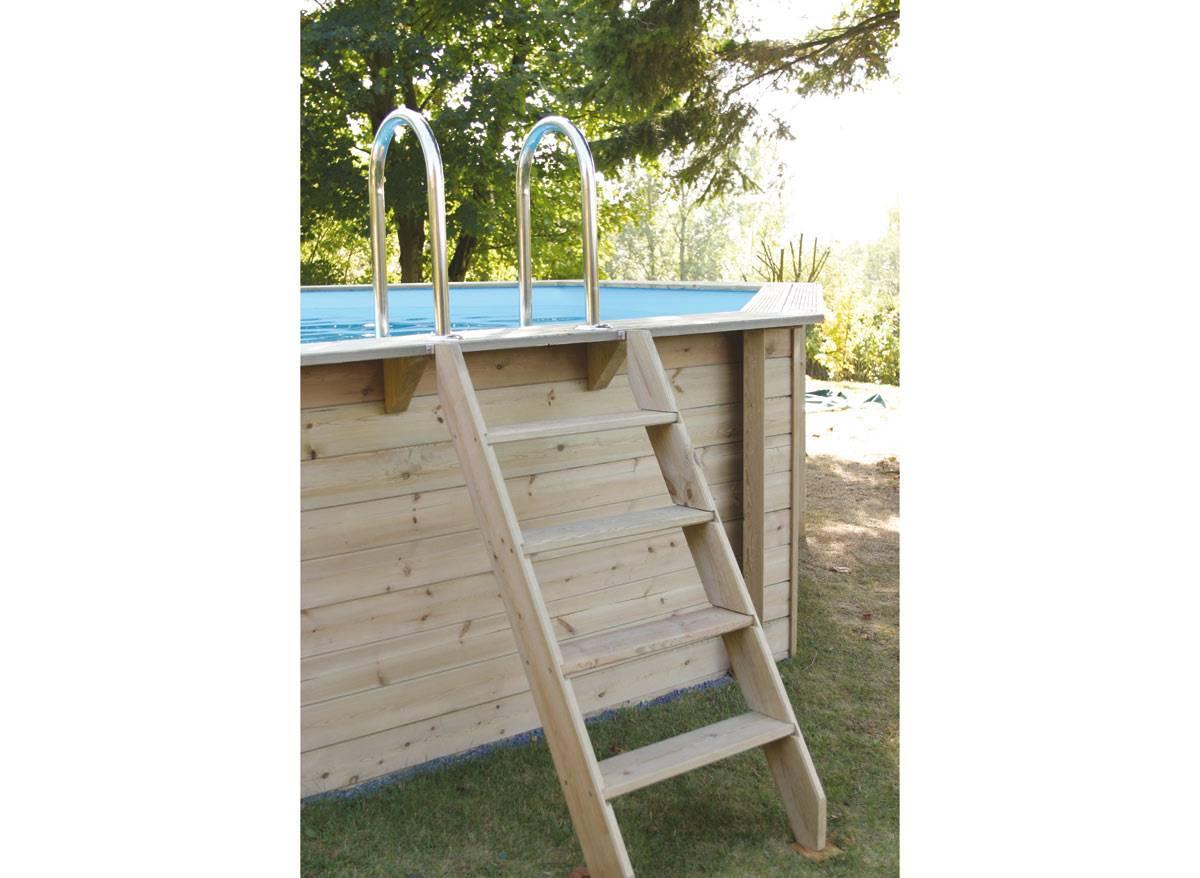 Piscine bois 2 piscine bois ocea 610 x 400 x 130 m ubbink 1
