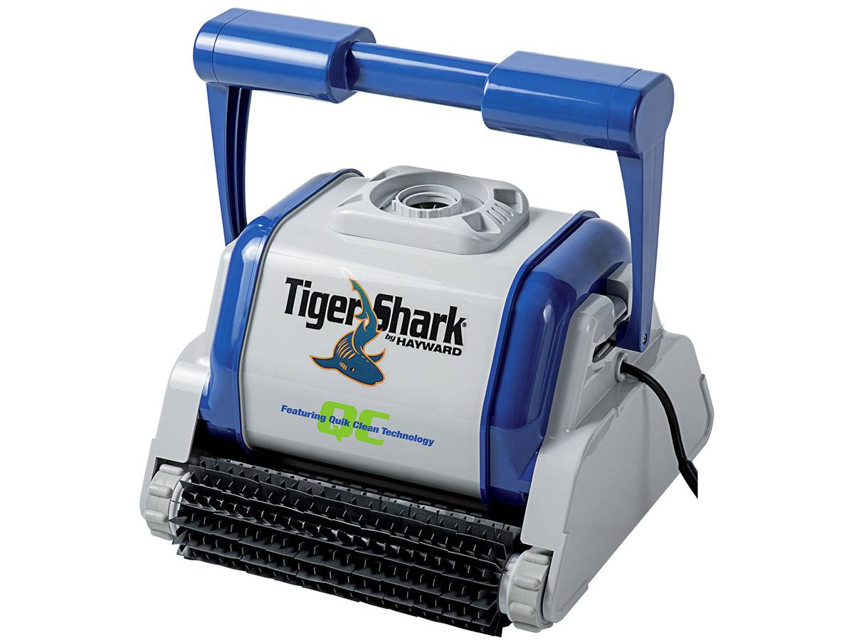 Robot piscine electrique Tiger Shark 2 robot de piscine tigershark brosses picots hayward