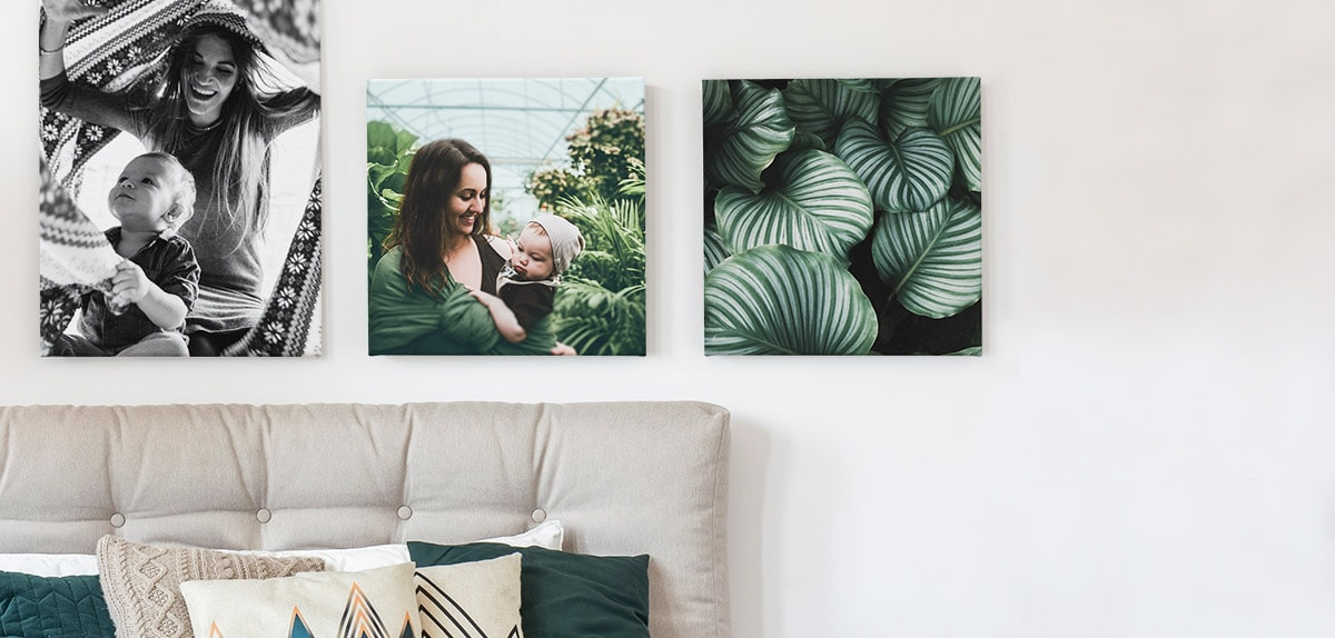 Photos sur une toile 3 toile photo ambiance