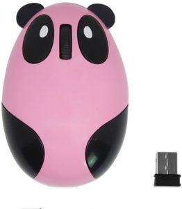 Souris Optique sans Fil panda rose