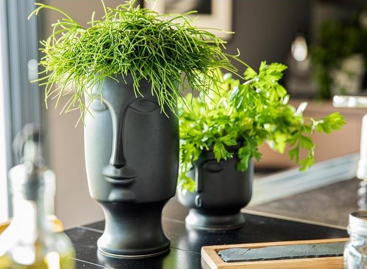 Vase céramique visage 4 661735 2