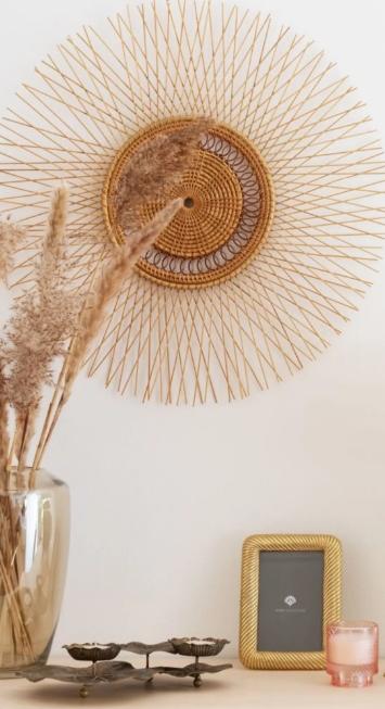 Déco murale ronde en bambou et rotin 6 deco